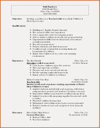 Sample Resume For Non Experienced Teacher Valid Resume Template With