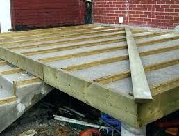 wood deck over concrete building deck over concrete patio wood deck
