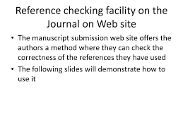 Ppt How To Write References While Submitting Manuscripts
