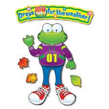 Carson Dellosa Weather Frog Bulletin Board Set Beckers School Supplies