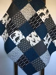 Best 25+ Rustic quilts ideas on Pinterest | DIY rustic bunting ... & Baby Boy Quilt-Rustic Quilt-Plaid Quilt-Blue Buffalo Plaid-Lumberjack-Boy  Crib Bedding-Deer Quilt-Bear-Tribal-Arrows-Woodland Quilt-Blanket Adamdwight.com