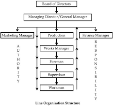 Bottom Up Org Chart Line Organisation Structure Source Akrani 2010