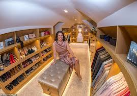 stunning the walk in wardrobe at the home of alaina foy