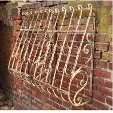 Paar Antike Fenstergitter Schmiedeeisen Shabby Homepage Der