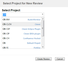 the crucible workflow atlassian documentation choose a project for this review from the drop down list then click create review