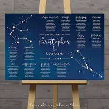 Constellation Wedding Table Plan Celestial Wedding Seating