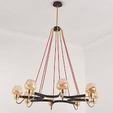 modern vintage chandelier roadblock shape chandelier 1 tier 8 lights bedroom living room lighting with
