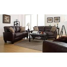 rta monaco biscuit brown espresso faux leather sofa
