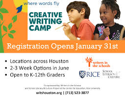 Summer Fun in Houston       Free   Cheap Registration for the      Summer Creative Writing Workshops is now open   Our program  named the Best Summer Program for Kids by the Houston Press