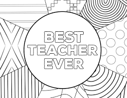 Teacher Appreciation Coloring Pages Paper Trail Design