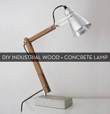 concrete table lamp. DIY Industrial-Modern Wood And Concrete Table Lamp D