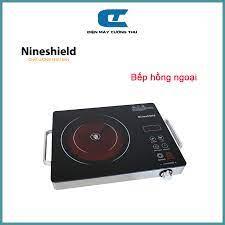 Bếp hồng ngoại bếp điện quang cảm ứng 2 vòng nhiệt NineShield 2200W tiết  kiệm điện Bảo hành 12 tháng