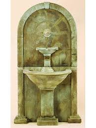 D Amalfi Wall Outdoor Water Fountain For Spout  SoothingWalls