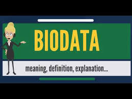 What Is Biodata What Does Biodata Mean Biodata Meaning Definition Explanation