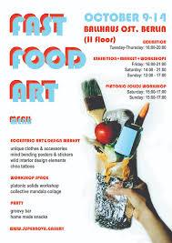 Art Event Flyer Fast Food Art Event Artconnect