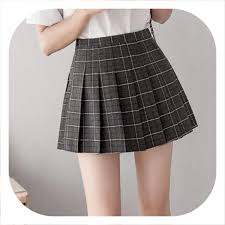 Designer Plaid Skirt Mini Plaid Skirt 2019 Summer Pleated Skirt High Waist School