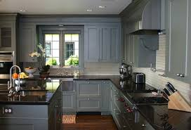 White Kitchen Cabinets With Black Countertops Interesting Gray Cabinets Dark Floor I Love That The Cabinets Go To The