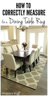 Rug Under Dining Table Size Rugs For Under Dining Room Table How To