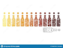 Srm Chart Beer Color Chart Stock Vector Illustration Of Amber 130681334