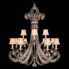 fine art lamps a midsummers nights dream 12 light chandelier in cool moonlit patina finish