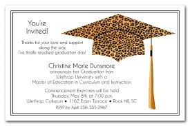 Print Graduation Announcement Leopard Grad Cap