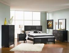 asian bedroom furniture. perfect furniture 4 pc bedroom set queen size bed night stand mirror dresser asian hardwood  black in furniture s