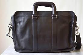 coach men laptop bag briefcase f70662 black lexington leather embassy
