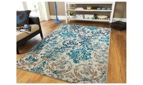 dark teal area rug 5x7 antique distressed fl rugs living room