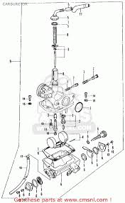 honda ct70 trail 70 k2 1973 usa carburetor schematic partsfiche ct70 headlight wiring at Honda Trail 70 Wiring Diagram
