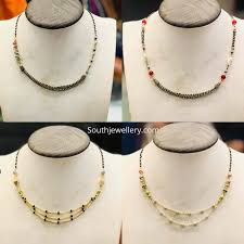 Light Weight Black Beads Light Weight Black Beads Short Necklaces Indian Jewellery