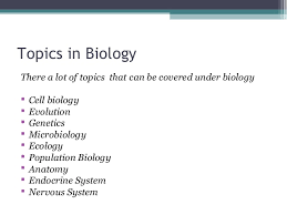 biology assignments 4 topics in biology