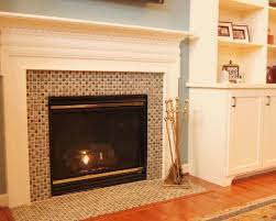 awesome glass mosaic fireplace surround traditional family room mosaic tile and had the black granite