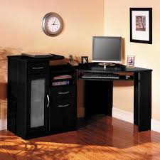 breathtaking home office furniture with l shaped desk combined black accentuate also base drawers unify blur glass file cabinet and rounded wall clock