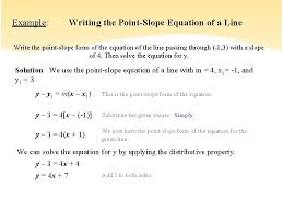 writing equations given slope and point 5 2