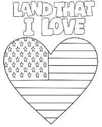 Small Picture Printable Coloring Page for Independence Day