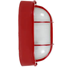 red large amidships bulkhead wall mount light fixture red