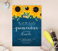 Quincenera Invitations Sunflower Quinceanera Invitations