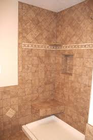 tiled shower wall with custom seat