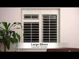 Choosing The Right Size Louvre Blade Or Slat For Your Interior Plantation  Shutters Or Blinds   YouTube
