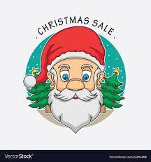 Santa Claus Christmas Sale Logo