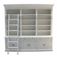 more views french provincial three bay bookcase