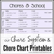 Dave Ramsey Junior Chore Chart Our Chore System Chore Charts For Kids Printables