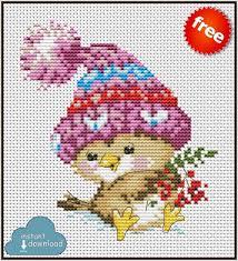 Cross Stitch Designs Free Download Pdf Winter Bird Cross Stitch Pattern Pdf Xsd Download