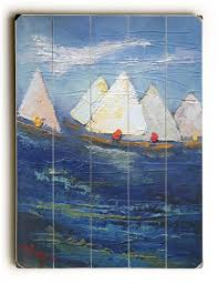 plank boat wall art