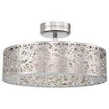 Ceiling Light With Hidden Fan Hidden Gems Led Semi Flush By George Kovacs P985 077 L