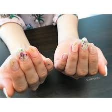 ブーケがポイントの大人可愛い春夏nail Sunrhodes草薙サンロード