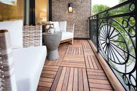 teak deck panels on balcony