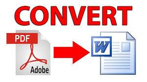 untuk convert file pdf ke word bagi