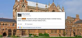 oxford uni offers british history essay prize but only  oxford uni offers 500 british history essay prize but only 75 for african history