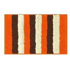 orange in x bath rug mat bathroom set n